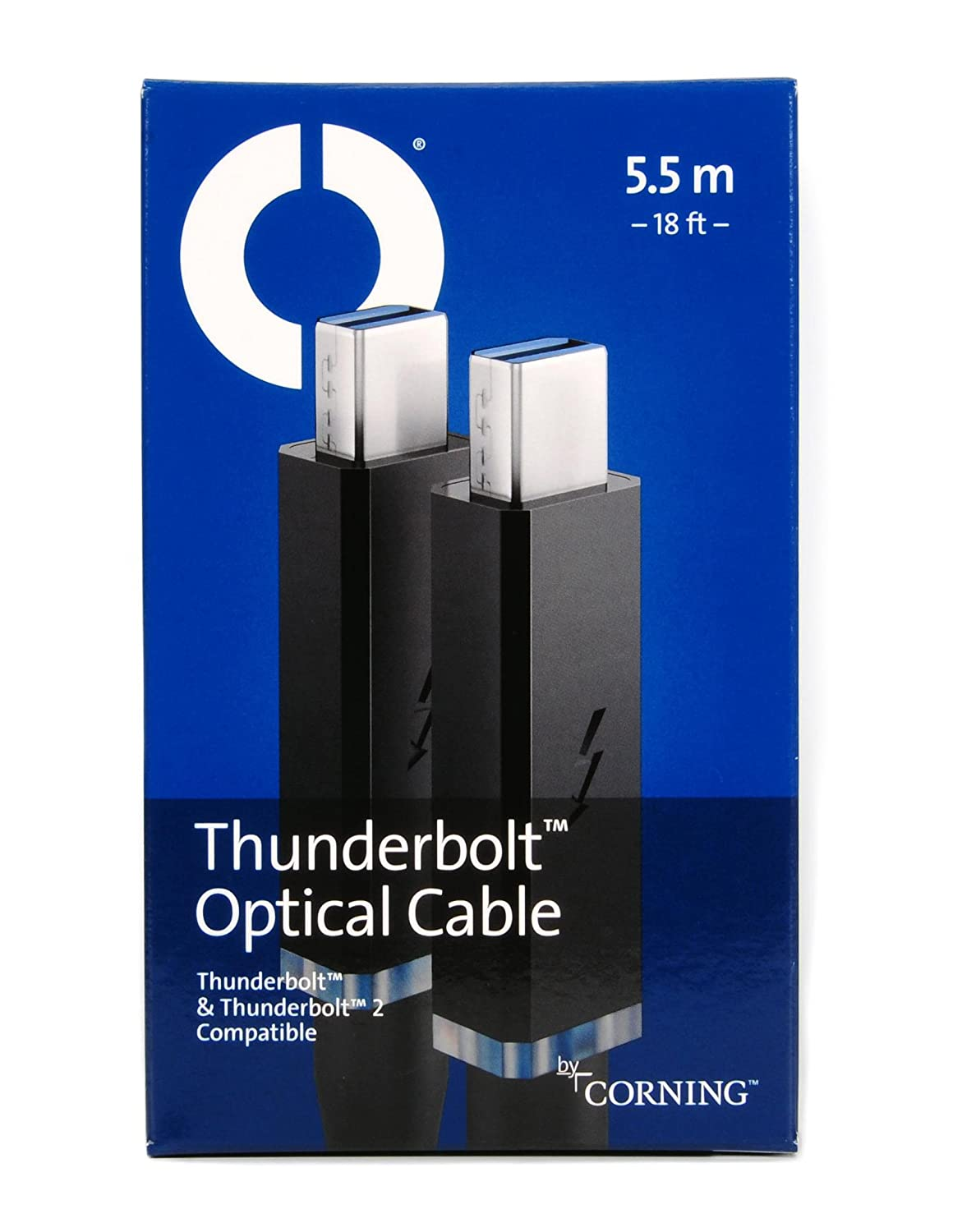 for Self-Powered Peripherals AOC-MMS4CVP5-5M20 Corning Thunderbolt Optical Cable 5.5m 18ft