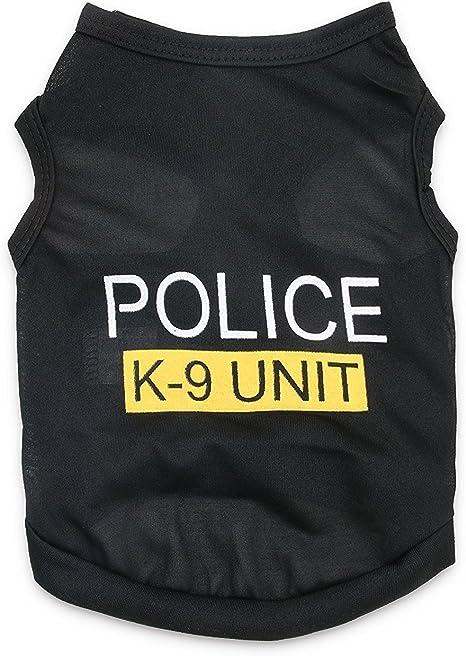 DroolingDog Camisa de policía para Perros pequeños: Amazon.es: Productos para mascotas
