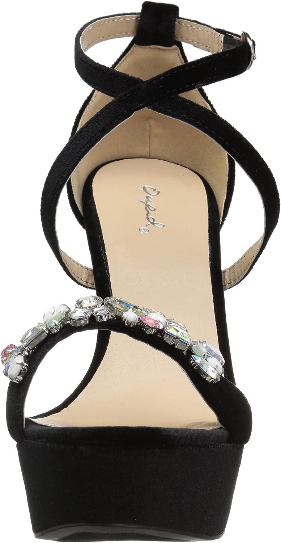 Qupid Womens Platform Sandal Heeled
