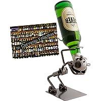 """Brubaker, struttura portabottiglie in metallo, design """"Funny Drinker"""", per vodka o liquore korn, con biglietto d'auguri (lingua italiana non garantita)"""
