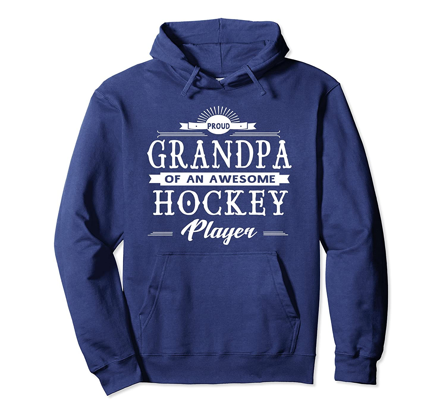 Proud Grandpa OF an Awesome Hockey Player Hoodie-Colonhue