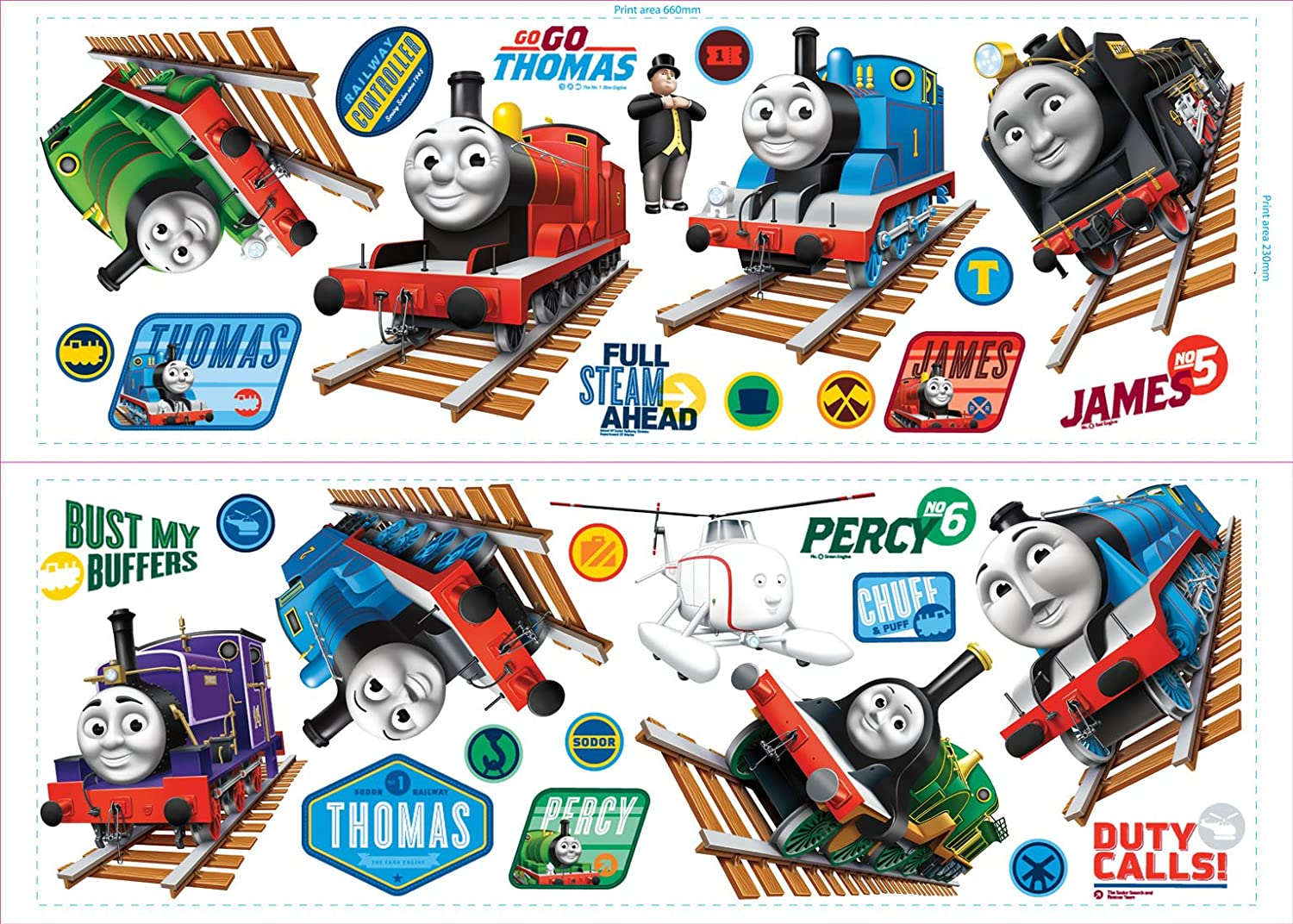 Captivating Fun4Walls CGI Thomas And Friends Stikarounds Repositionable Wall Stickers:  Amazon.co.uk: Kitchen U0026 Home Part 11