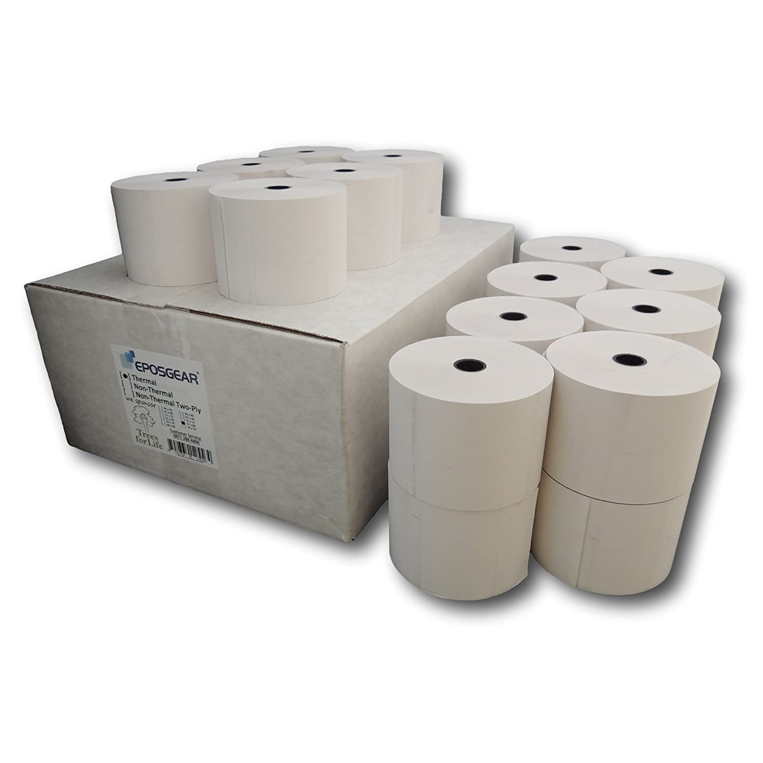 Thermal Paper Compatible with 2 1//4 x 165 W 57mmxL50m POS Receipt Paper 2 1//4 x 164 Cash Register Roll 50 rolls By Hapaper Brand