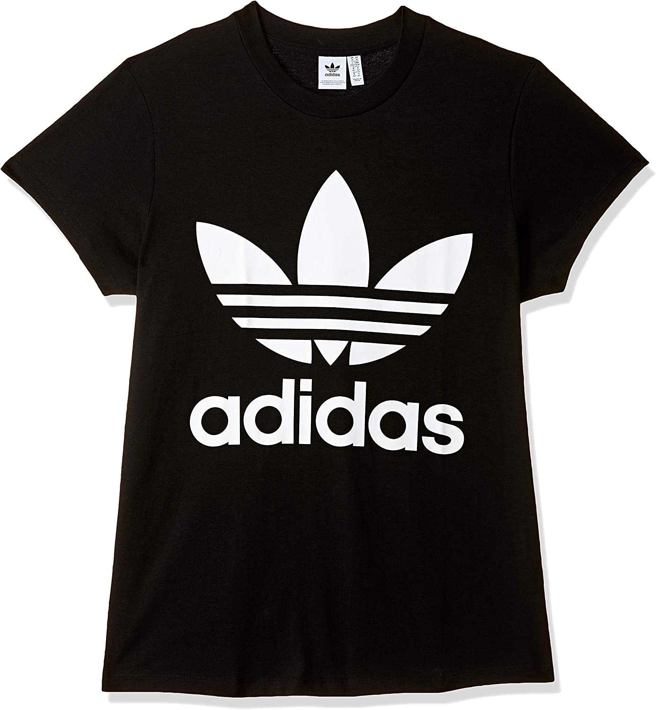 adidas Big Trefoil T Shirt Femme, Noir, FR : S (Taille