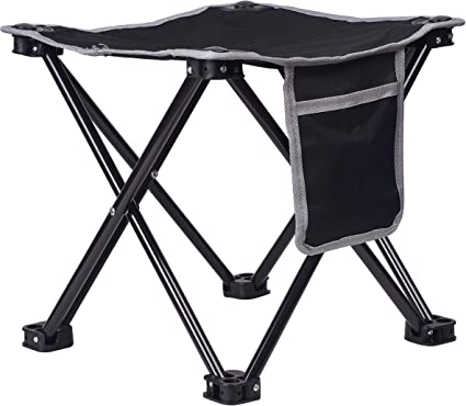 Steel Frame Portable Folding Stool Seat Outdoor Camping Picnic  Fishing Chair