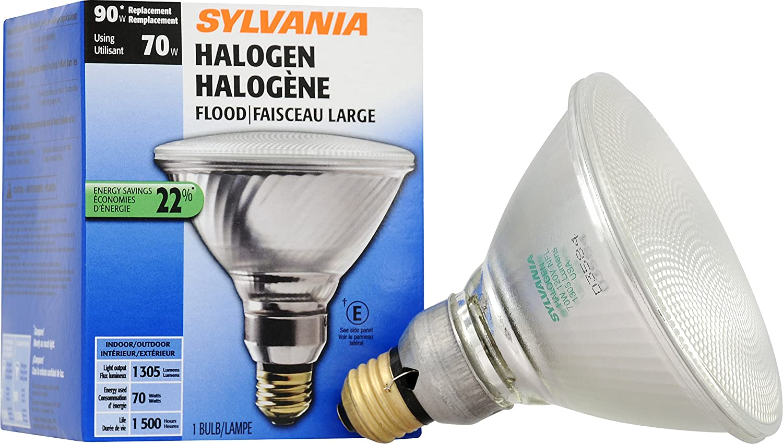 SYLVANIA Home Lighting 16748 Halogen Bulb, PAR38-70W Equivalent, Reflector Lamp, Medium Base