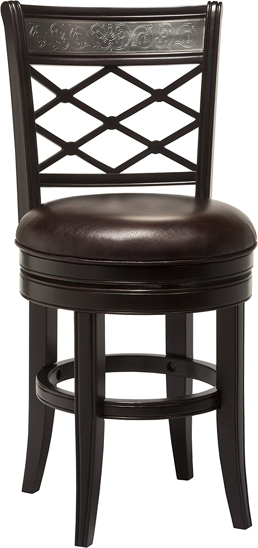 Hillsdale Furniture Spalding Swivel Counter Stool, Espresso