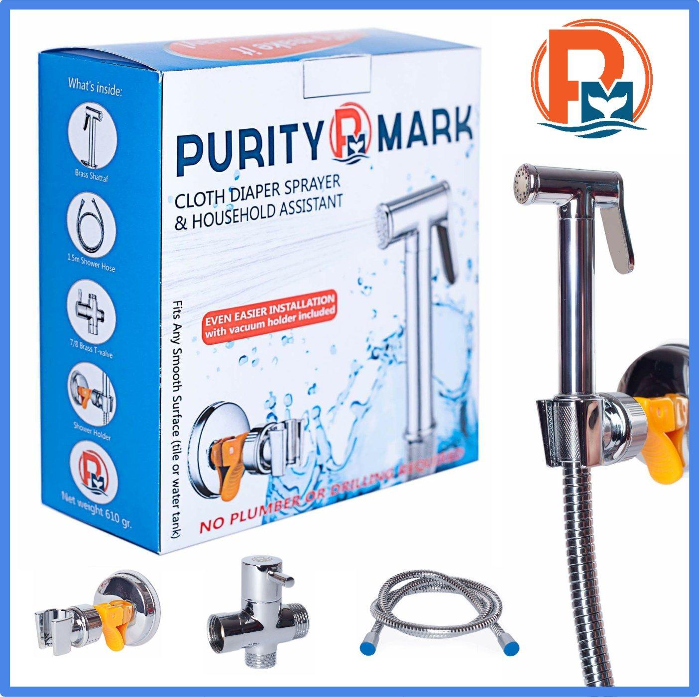 Amazon.com : Purity Mark Cloth Diaper Sprayer - a Premium Personal ...