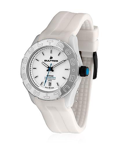 Bultaco H1Pw36S-Cw1 - Reloj Policarbonato Correa Silicona Blanco: Amazon.es: Relojes