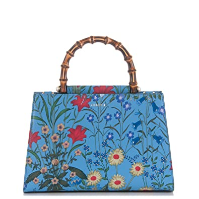 03e735339c03 Amazon.com: Gucci Flora Azure Medium Floral Handbag Italy Bag Handbag  Flower Bamboo New: Shoes