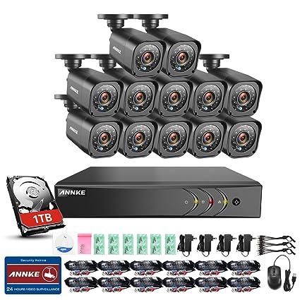 ANNKE Kit de Seguridad 16CH DVR TVI 1080P Lite y 12 Cámaras 720P (H.