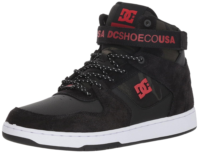 DC Men's Pensford Se Skate Shoe 7.5 D(M) US|Black/White/Red