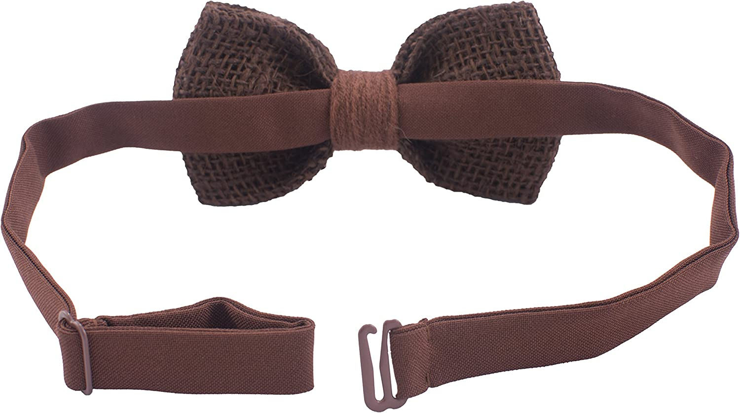 by Bow Tie House Rustic Pre-Tied Bow Tie in 100/% Burlap Hessian for Adults /& Children