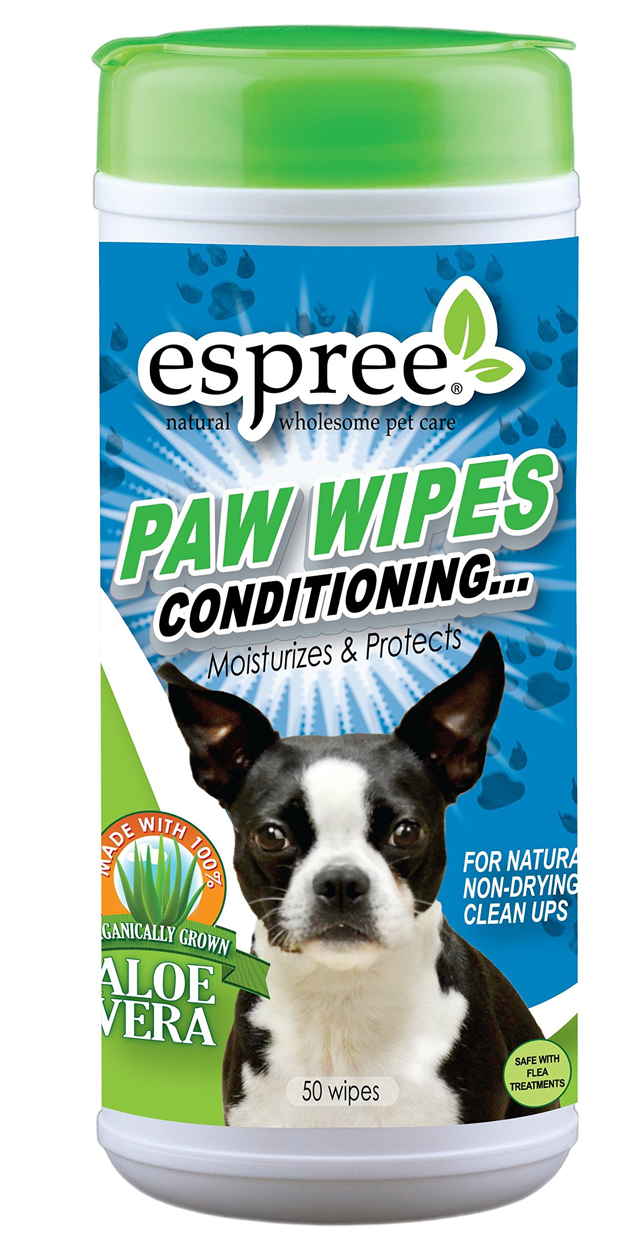 Espree Paw Wipes Conditioning, 50 Count