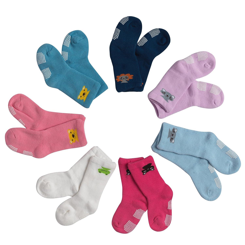 Alva Edison Uniex Animal High Tube Thick Cotton Socks For Boys Baby 8 Pairs Gift Pack Girls Toddler /& Child