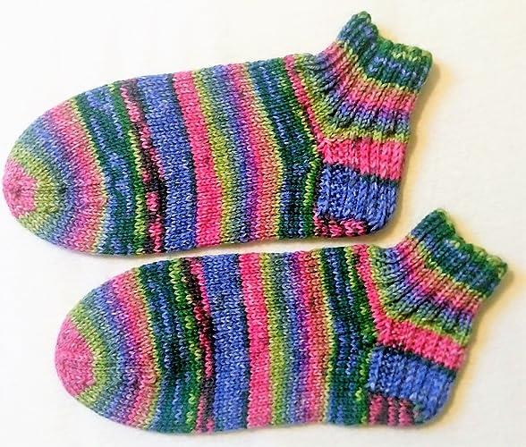 Handknit, zapatilla de punto de punto, lana Lana Grossa, calcetines de punto,