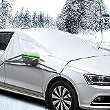 MATCC bil vindruta skydd snöskydd med krok och remmar yttre vattentät solskydd med spegelskydd framruta sköld vindtät i…