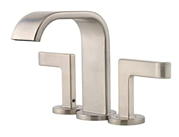 Pfister Skye 2 Handle Mini Widespread Bathroom Faucet, Brushed Nickel