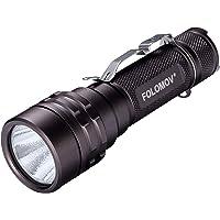FOLOMOV 18650L Super Bright 1600 Lumens, 1476 Feet Long Distance Beam Compact Tactical Flashlight,USB Charging Battery…
