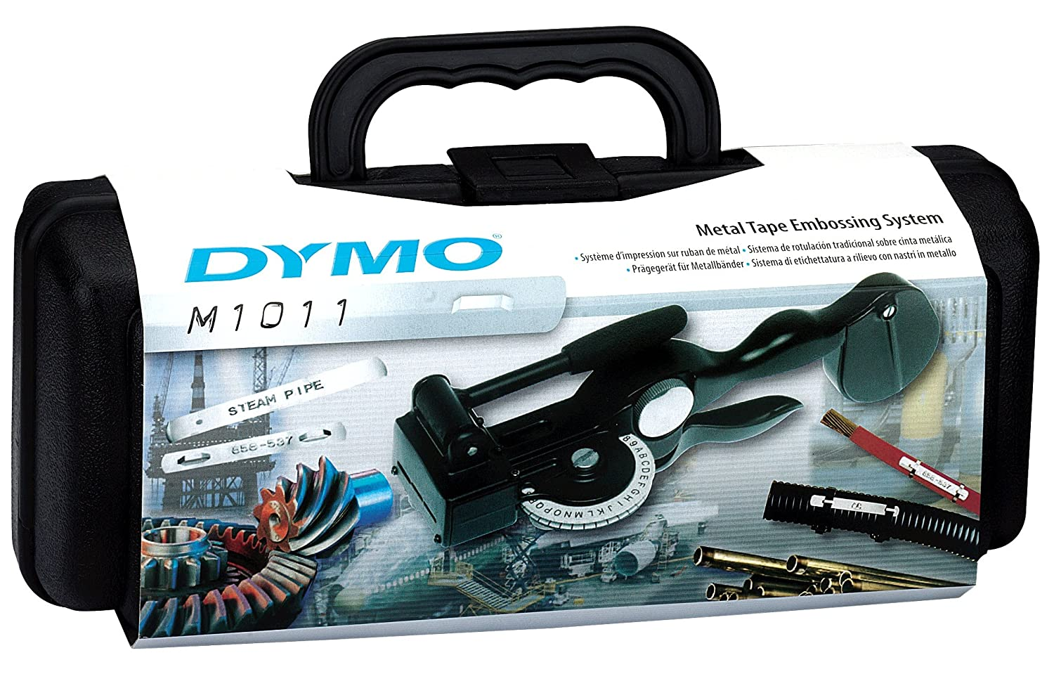 Dymo S0720090 Rhino M1011 Embossing Label Maker with Case, Black
