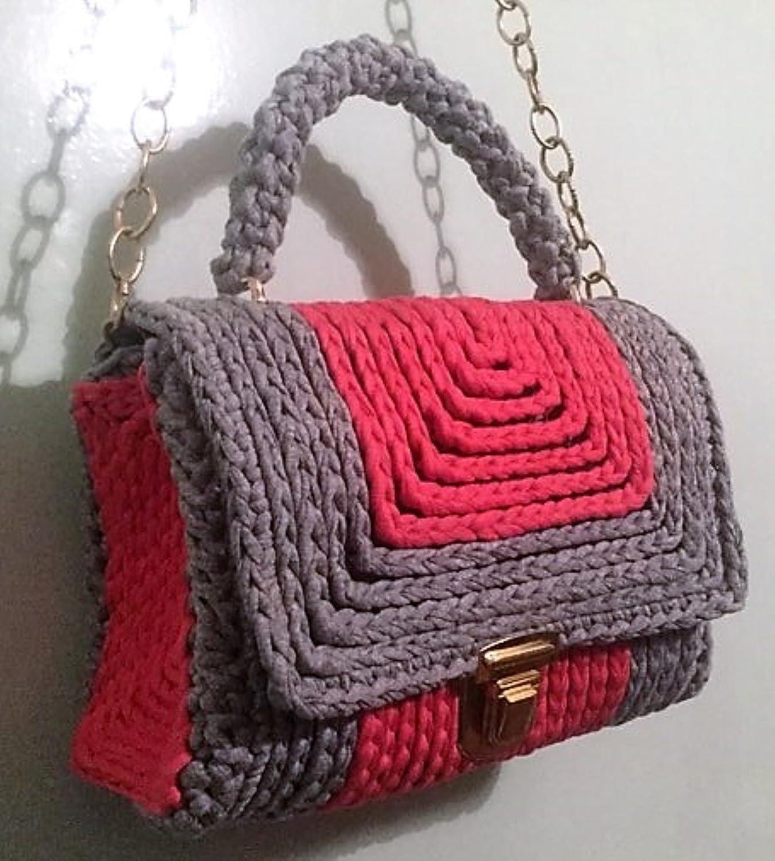 Amazoncom Women Crochet Hand Bag Shoulder Bag Plastic Canvas 10 Mm
