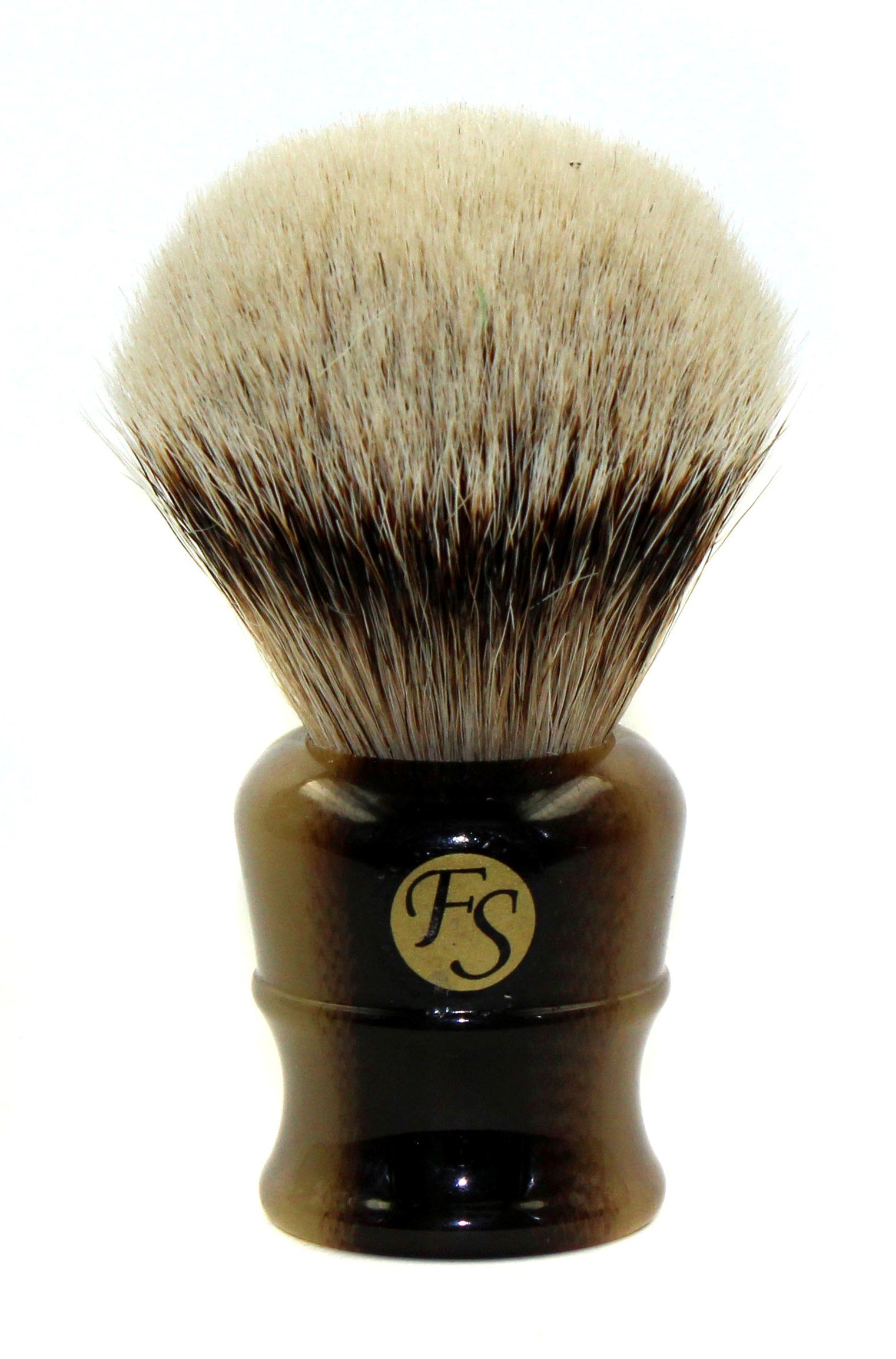 Super Large Silvertip Badger Shaving Brush with Faux Horn Handle Comes with Free Stand