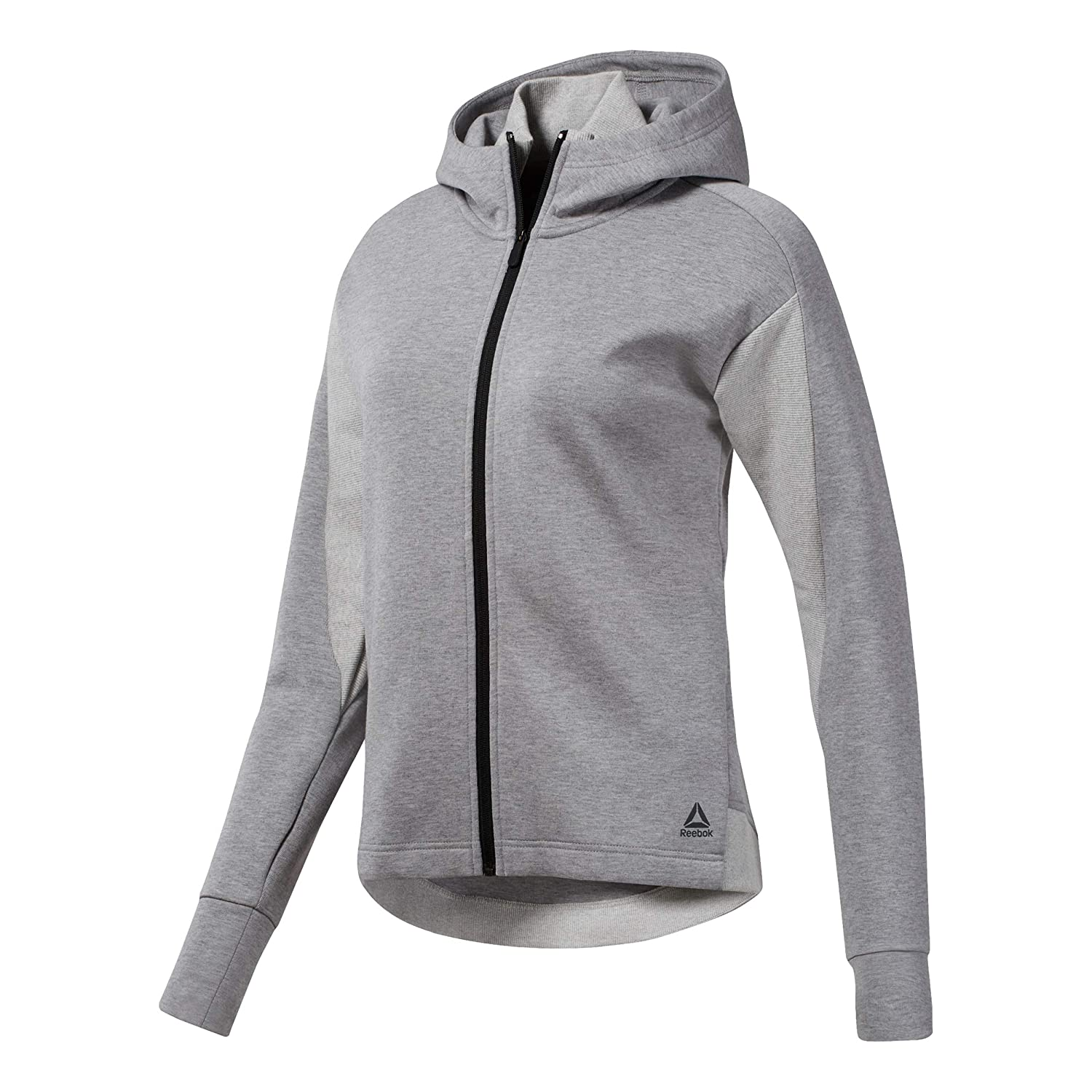 e0c407fba0 Reebok Women One Series Cotton Full-Zip Hoodie Women Running Clothes ...
