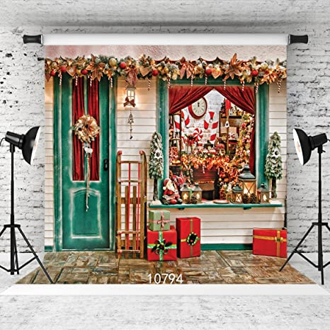 wolada 8x8ft christmas photography backdrops gift box house celebrate background photo background studio prop 10794