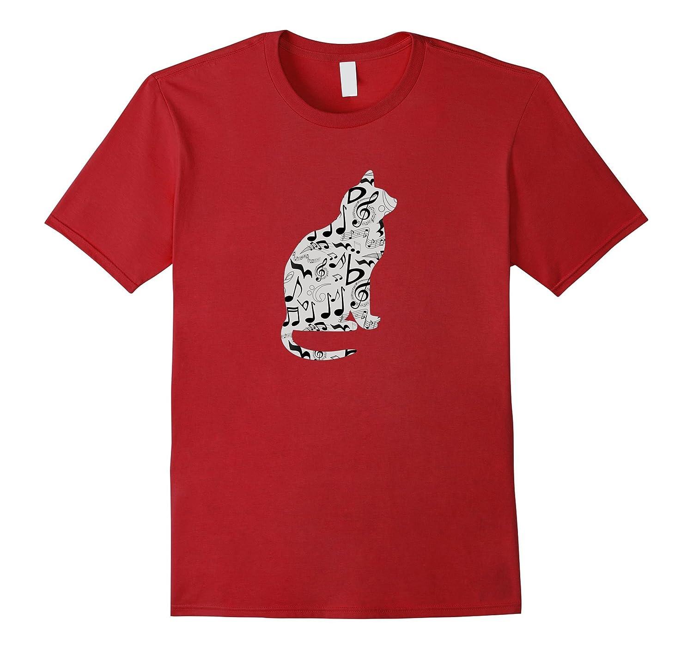 Musical Cat T Shirt Music Teacher or Musician Gift-azvn