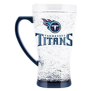 NFL Tennessee Titans 16oz Crystal Freezer Flared Mug