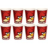 Amscan Fun-Filled Angry Birds Birthday Party Paper Cups (Pack Of 8), Red, 9 oz