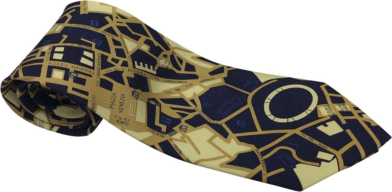 Necktie 3 Styles Including New York Rome and Paris Mens 100/% Silk Novelty Tie