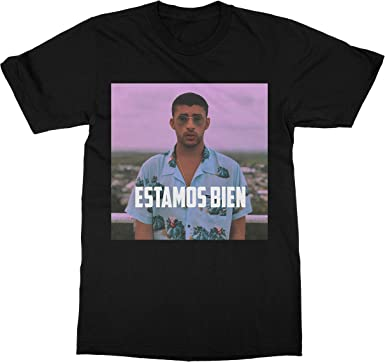 Bad Bunny Men/'s Black T-Shirts