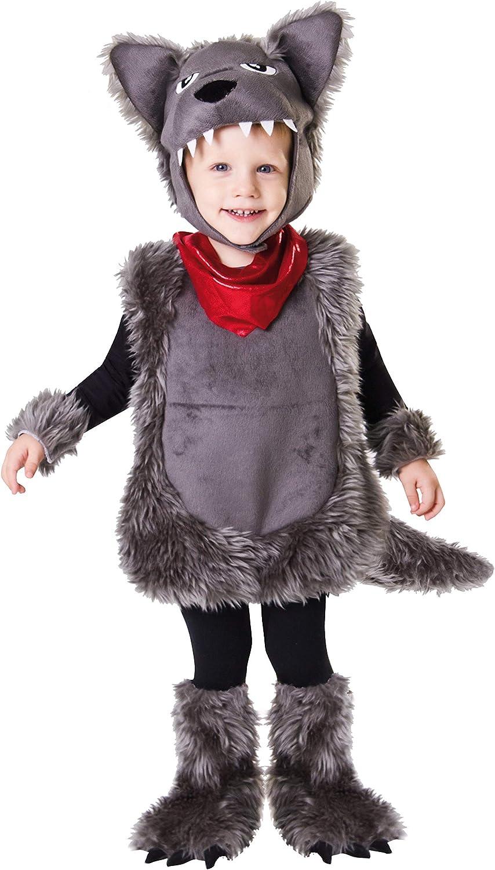 My Other Me Me-203200 Disfraz de pequeño lobo, 1-2 años (Viving Costumes 203200)