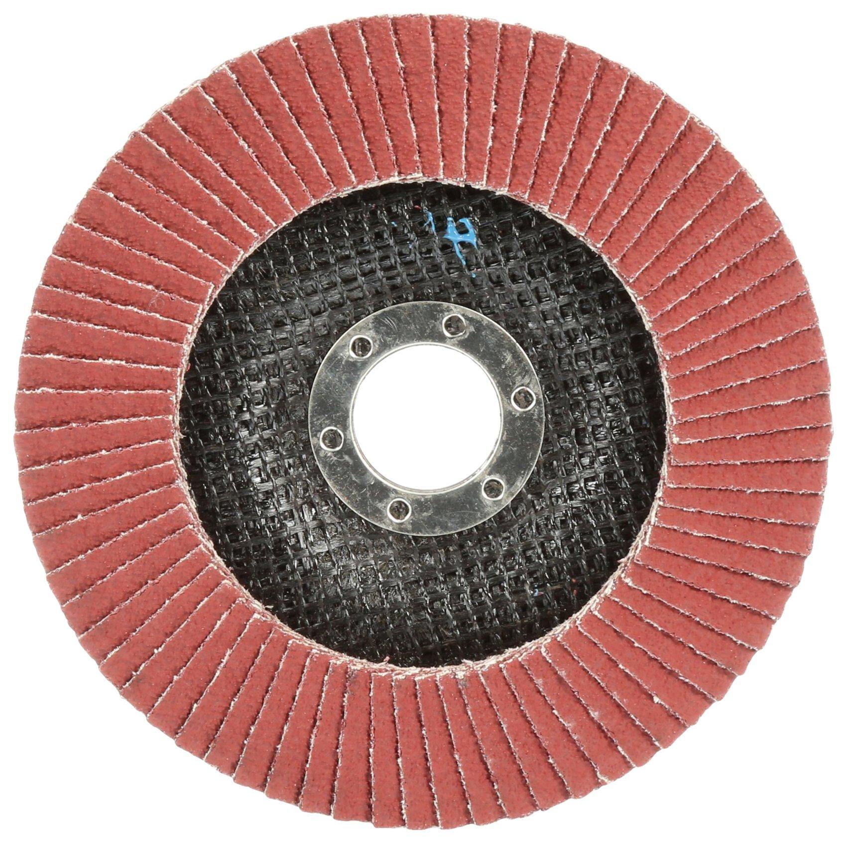 Cubitron II 64421 3M Flap Disc 969F, T29 7'' x 5/8-11, 40+ YF-Weight, Giant, Polyester Film Backing, Precision Shaped Ceramic Grain Abrasive Grit, 7'' Diameter