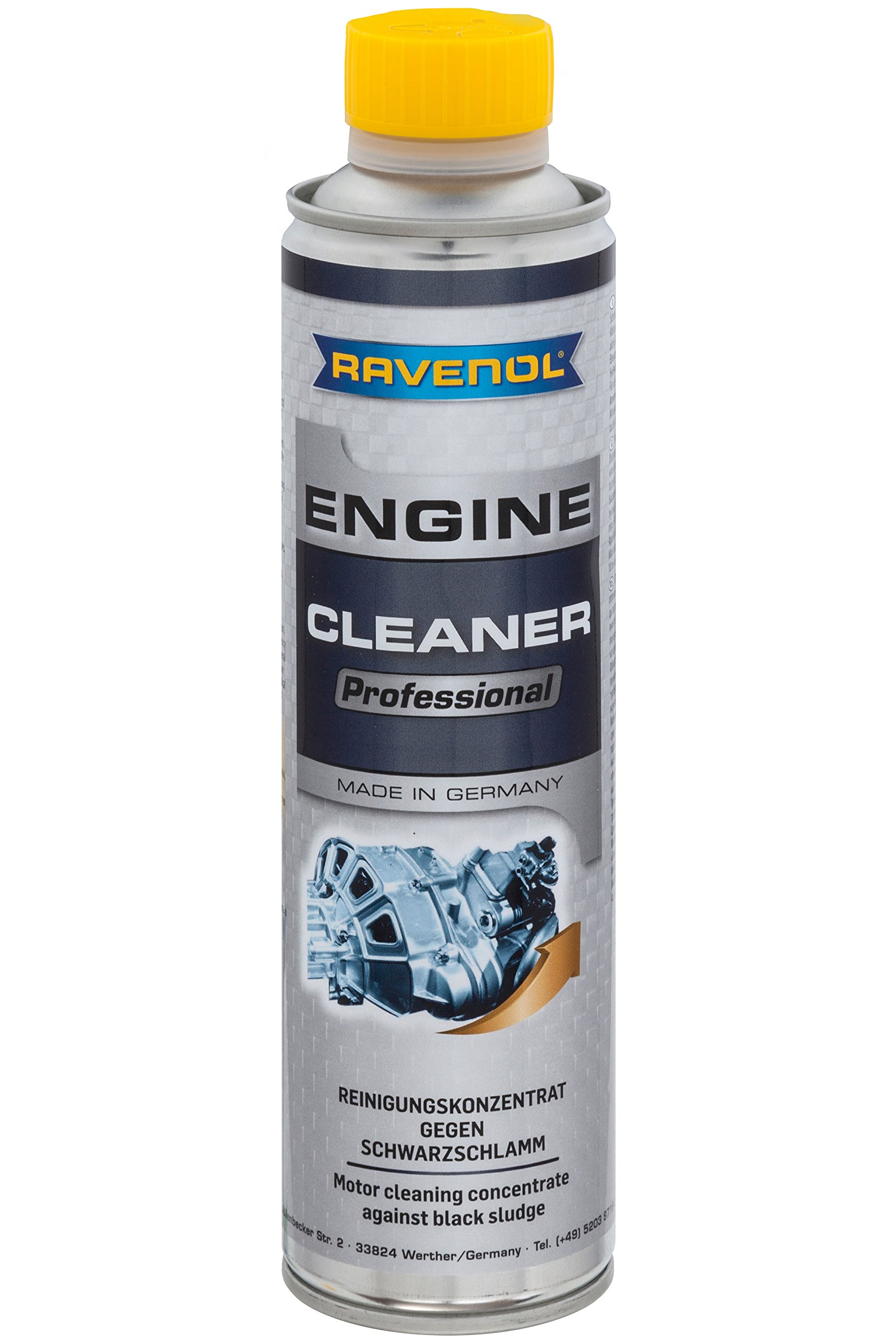 RAVENOL J8A0101-400 Professional Engine Cleaner - Engine Oil System Cleaning and Flush Treatment (400 ml) by Ravenol