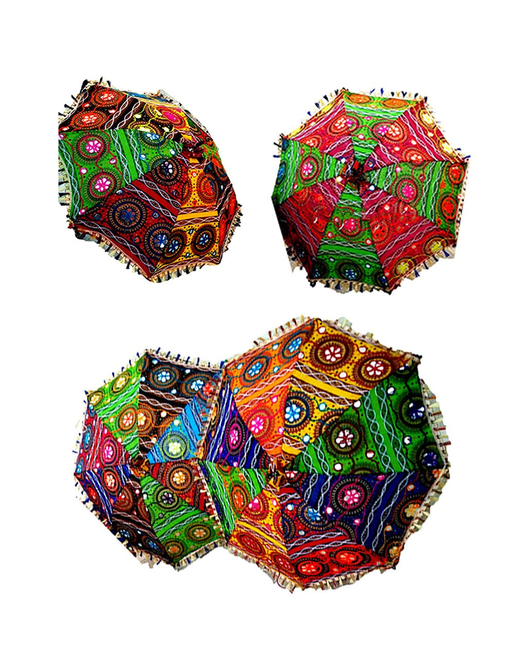 Wholesale Lot of 75 PC Traditional Indian Designer Handmade Rajasthani Umbrella