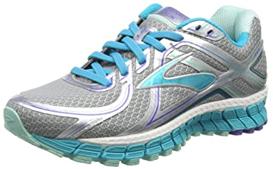 9311bfbb5d0 Brooks Women s Adrenaline GTS 16 Silver Bluebird Blue Tint Sneaker 6.5 2A -  Narrow