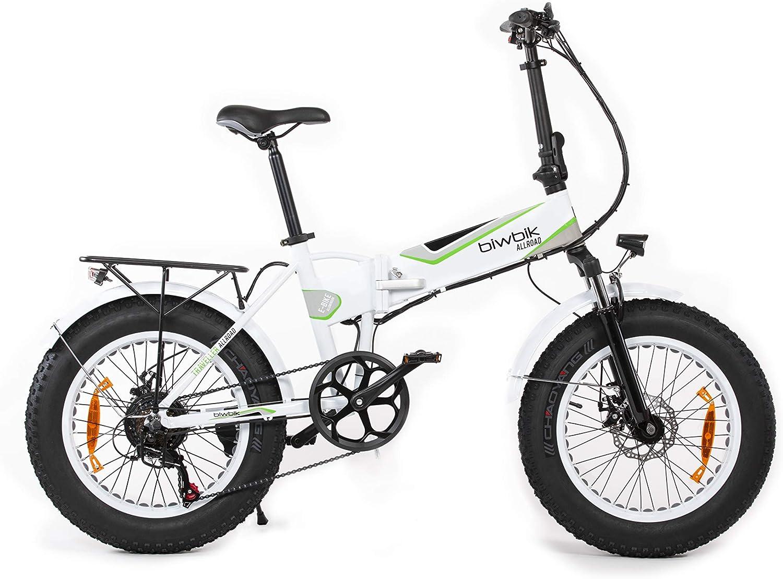 Bicicleta ELECTRICA Plegable Mod. Traveller (All Road Blanca): Amazon.es: Deportes y aire libre