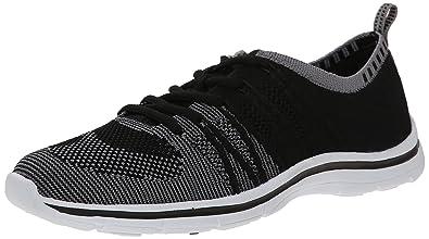 Anne Klein Sport Women's Weekend Fabric Fashion Sneaker, Black, ...
