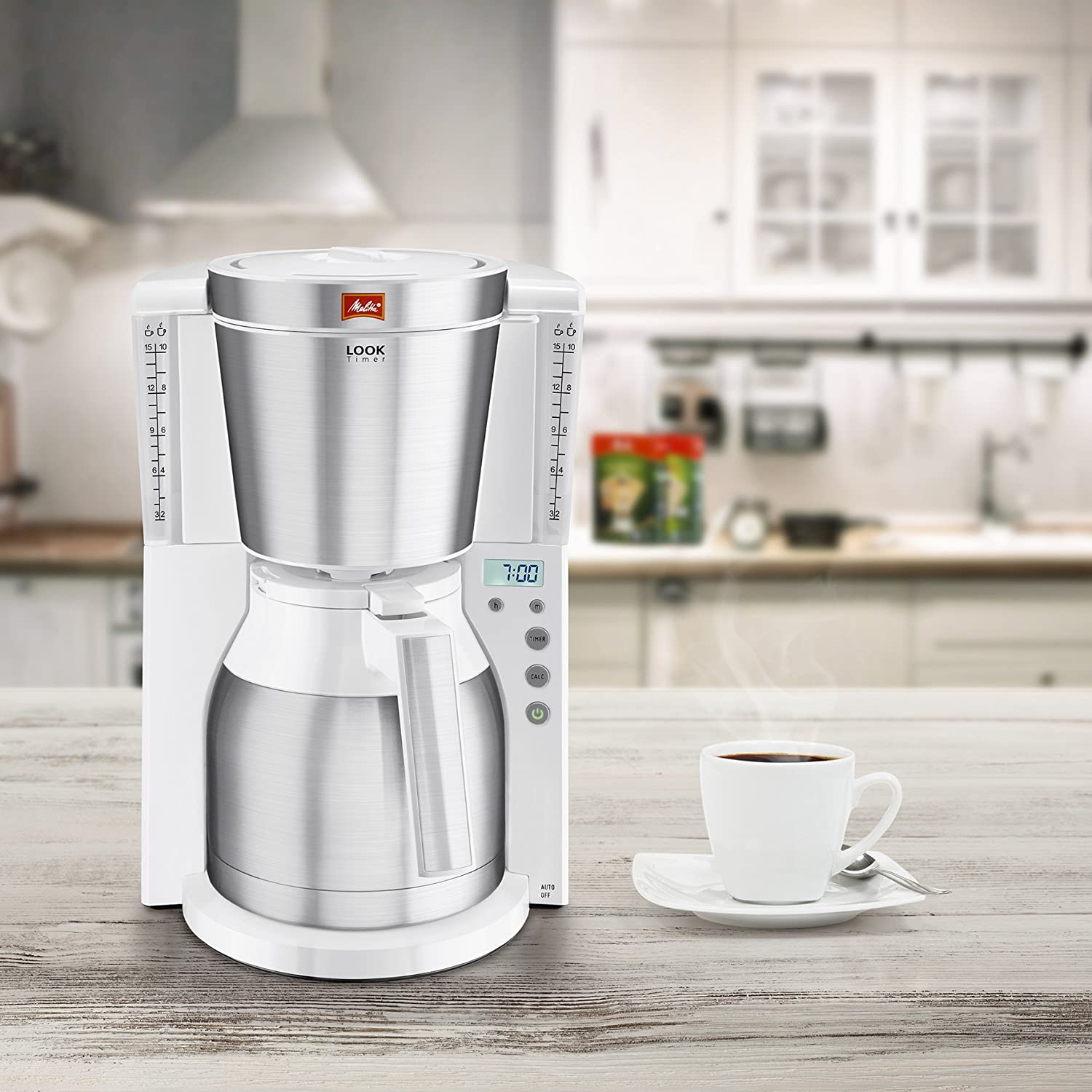 Melitta Non Electric Coffee Maker : Melitta Look IV Therm Timer Filter Coffee Maker - Programmable Machine with Jug eBay