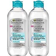 Garnier Skinactive Micellar Cleansing Water for Waterproof Makeup, 2 Count