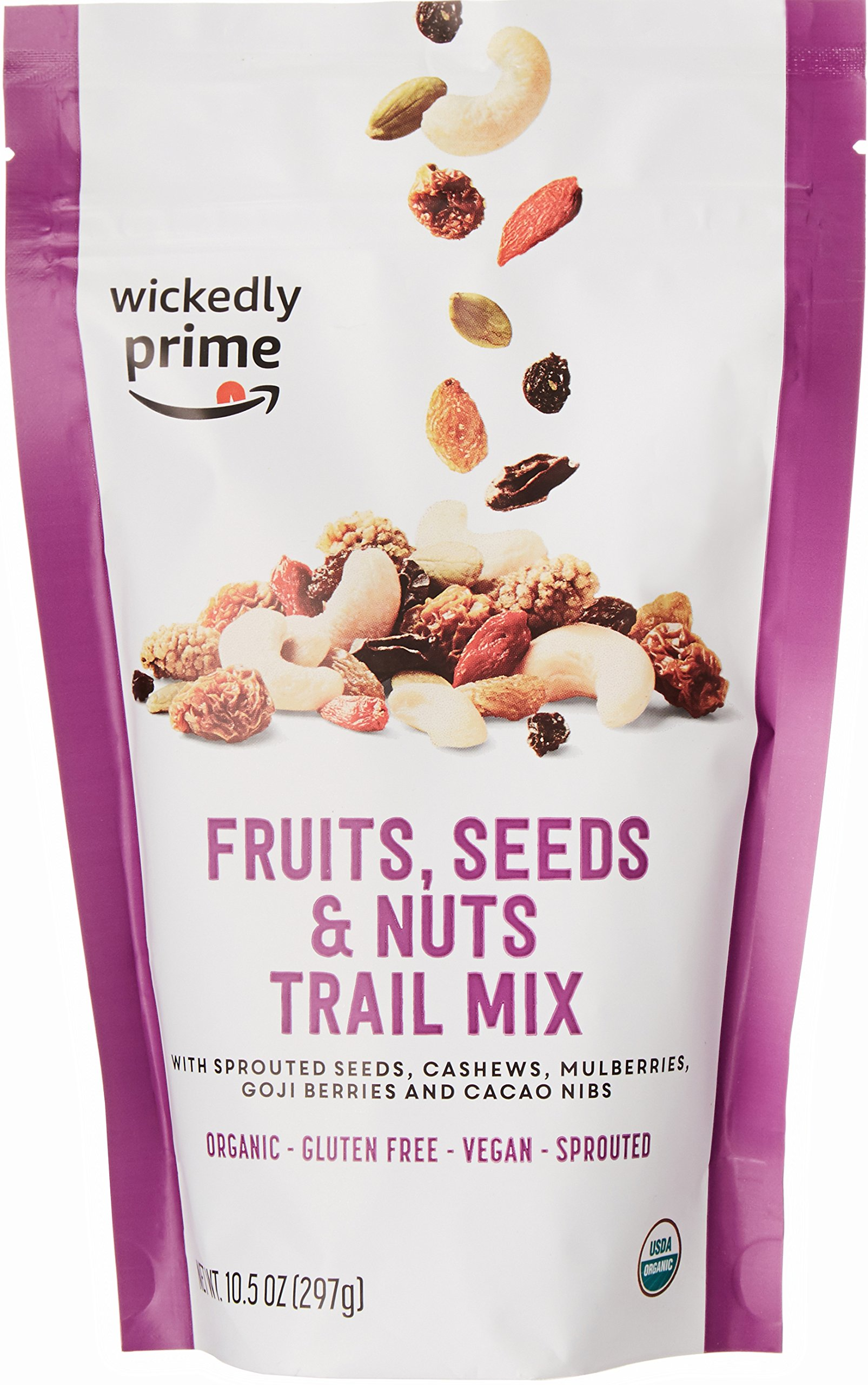 Wickedly Prime Organic Sprouted Trail Mix, Fruits, Seeds & Nuts, 10.5 Ounce by Wickedly Prime