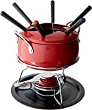 IMUSA USA GKM-61023 Complete Fondue Set with Forks, Red