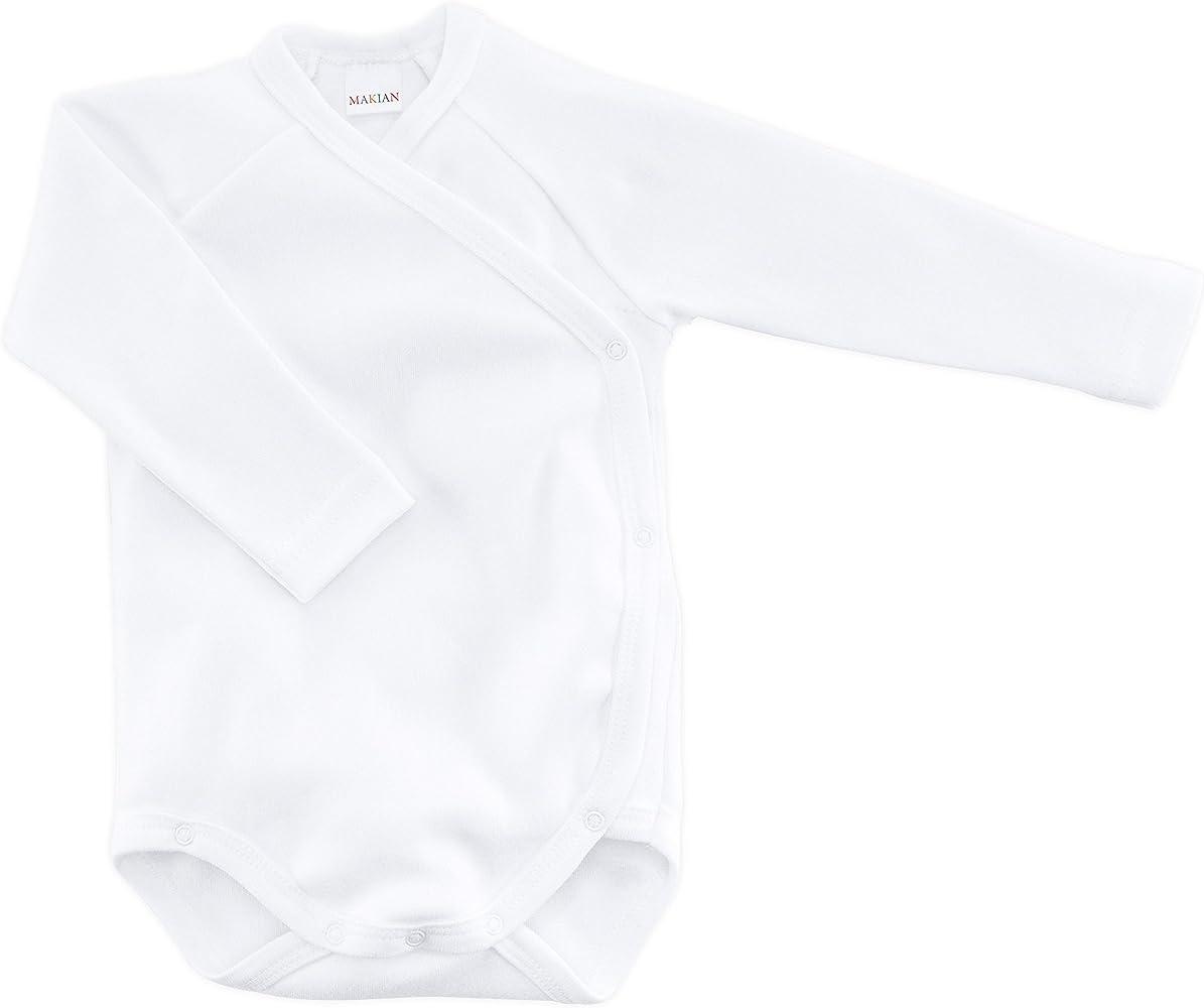 Bodies para bebé de manga larga blancos - 3 Ud. - 100% algodón ...