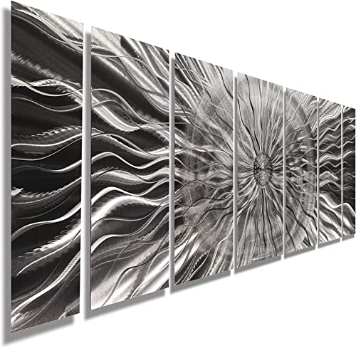 Statements2000 Abstract Extra Large Etched 3D Metal Wall Hanging Panels Indoor/Outdoor Sculpture Art
