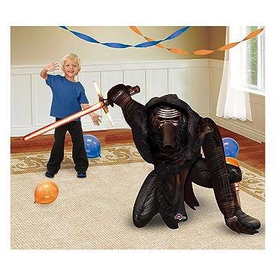 "Unbranded Star Wars Kylo Ren The Force Awakens 41"" 3D Jumbo AIRWALKER Party FOIL Balloon~: Toys & Games"