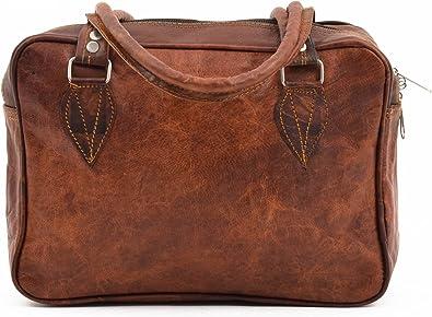 Gusti Cuir nature sac à main sacoche ordinateur université sac en cuir sac shopping weekend femme homme marron clair M25