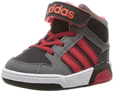 adidas Boys' BB9TIS MID INF Sneaker, Black/Scarlet/Solar RED, 3