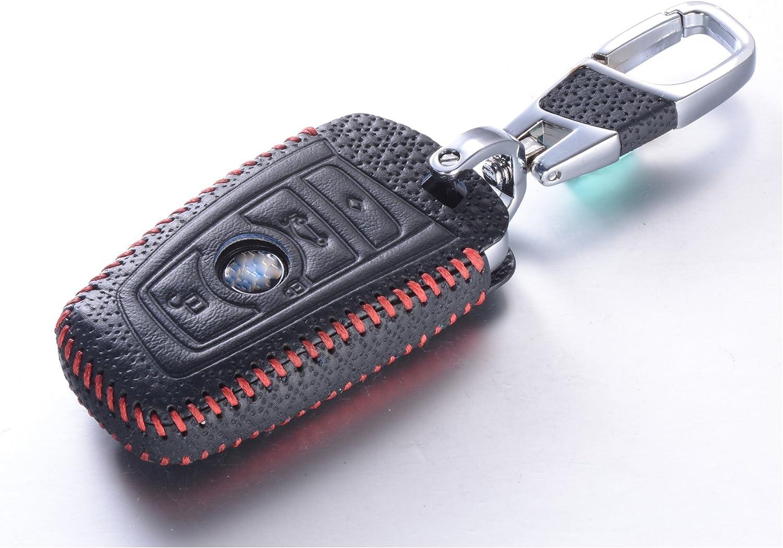 Luxury Black DKMUS for BMW 5 7 Series FOB Shell Key Chains Premium Quality Handmade Leather Key Cover for BMW F05 F10 F20 F30 Z4 X1 X2 X3 X4 M1 M3 e30 e36 e90 e60 e84 e39 e46 e90 e63 e53